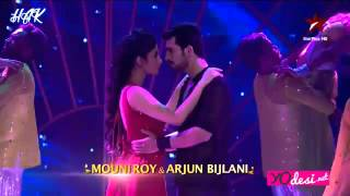 Arjun Bijlali and Mouni Roy