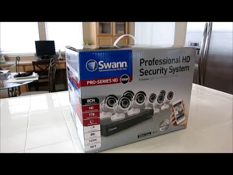 New 8 Channel 1080P Swann security system Install Review & Unboxing