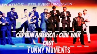 Captain America : Civil War Cast - Funny Moments Part 2
