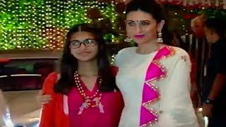 Karishma Kapoor spotted with daughter Sameira at Ganesh Chathurthi 2017 Party