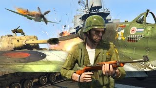 GTA 5 Real Life Military Mod - NEW World War 2 Tanks, Planes & Weapons Mod!! (GTA 5 Mods Gameplay)