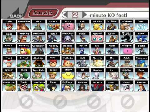 Super Smash Bros. 4 Dream Roster