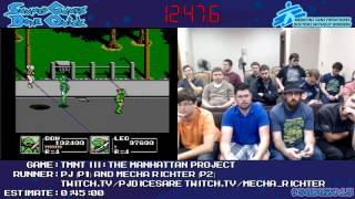 TMNT III: The Manhattan Project [NES] Co-op Speed Run in 0:39:06 #SGDQ 2013