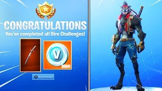 New *MAX DIRE* Skin FREE ITEMS in Fortnite!