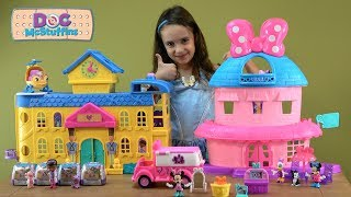 Doc McStuffins Toy Hospital Story with NEW Minnie's Happy Helpers Van and Surprise Toy Friends