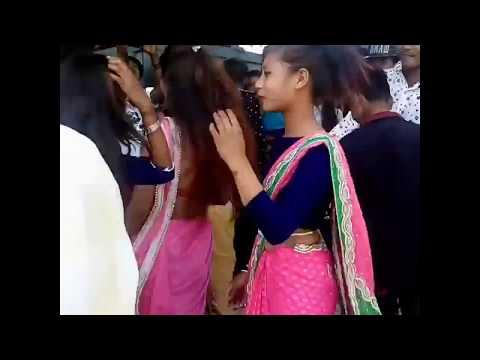 Tharu girls dance at  rupandahi harniha in bandbaja