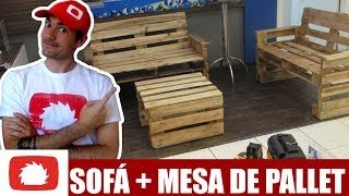 Como fazer Jogo de móveis para sala com PALLETS #DIY | Na oficina S03E24