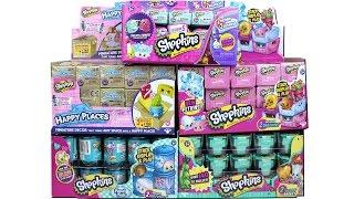 Mega Shopkins Full Case Opening Happy Places, Food Fair, Season 3, 4 and 5!