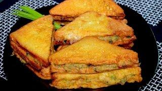 Vegetable Fried Sandwich - Vegetable Sandwich Recipe - Kids Lunch Box idea