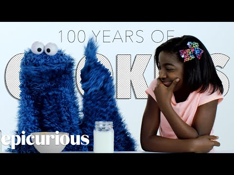 Kids Try 100 Years of Cookies with Cookie Monster Bon Appetit