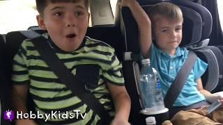 Drive-Thru CAR WASH! Hangman Game + Galaga Video Game Arcade Family Fun HobbyKidsTV