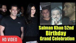 Salman Khan 52nd Birthday Full Video | Katrina Kaif, M.S Dhoni, Mouni Roy, Anil Kapoor