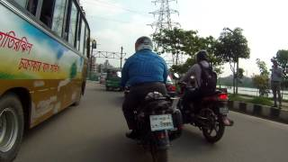 Commuting in Dhaka City with a bicycle