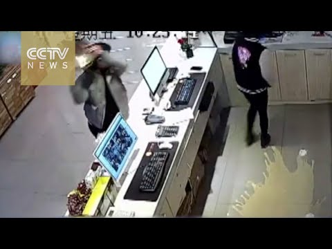 Footage man smashes Internet cafe after being advised not to smoke