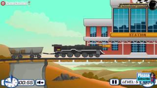 Freight Train Mania Game / Rollercoaster Train Tracks / Browser Flash Games / Gameplay Video