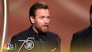 Ewan McGregor Wins Best Actor in a Limited Series at the 2018 Golden Globes