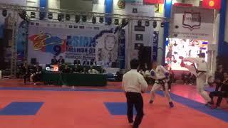 Asian Taekwon-do champion 2018. Iran vs Russia  _78 male sparing