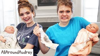 24 Hours Being A Mom Challenge With Twin Babies I AllAroundAudrey