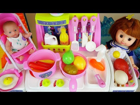 Xxx Mp4 Baby Doll Kitchen Cooking Food Toys Baby Doli Play 3gp Sex