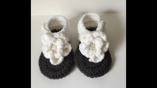0-3 Month Flower Sandals | Video Tutorial - Step by Step Directions