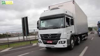Teste Revista Rodovia Brasil - caminhão Mercedes-Benz
