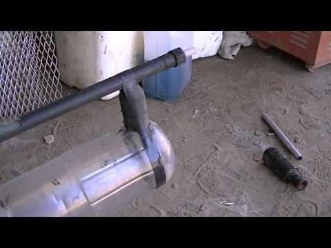 rifle de aire comprimido casero con bipode y silenciador