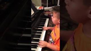Hans, 6 years old, playing Indian song