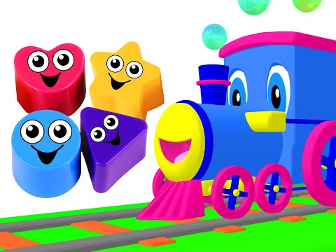 Shapes Songs Kids Compilation Shapes Train Toy Shapes Learn Counting & Colors by Busy Beavers