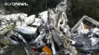 Police images: Aftermath of fatal plane crash in Columbian mountains