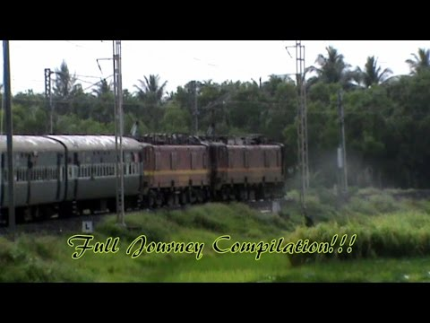 Full journey compilation from Kolkata to seashore Digha in wet monsoon!! Train journey!!!