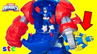 Super Hero Adventures Capitan America y su Armadura Comando Espacial