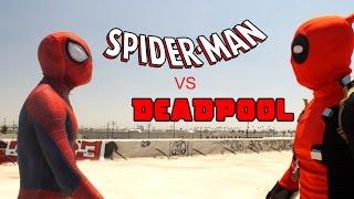 Spider-Man vs Deadpool - Rooftop Battle