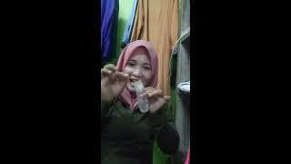 Malay woman promoting adult toys