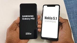 Samsung M10 vs Nokia 5.1 Plus SpeedTest Comparison !