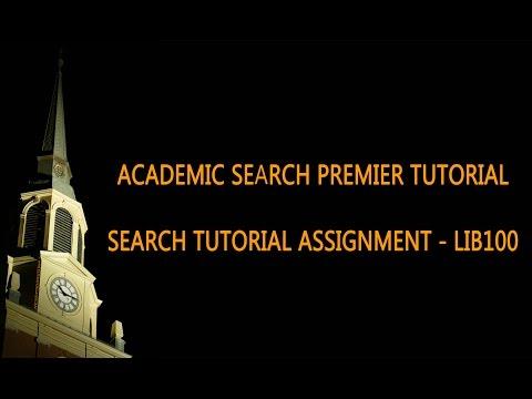 Academic Search Premier Tutorial