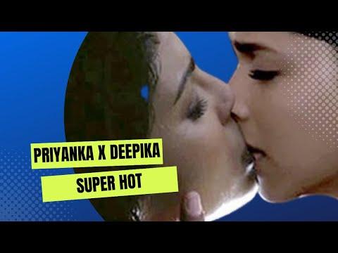 Priyanka Chopra kissing Deepika Padukone Extremely Hot!!!