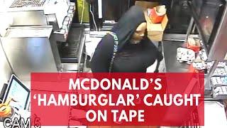 Watch: 'Hamburglar' caught stealing through McDonald's drive-thru window in Maryland