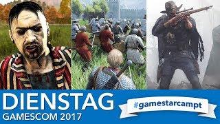 Gamescom 2017 - Stream am Dienstag - Spiele & Gäste bei #GameStarCampt