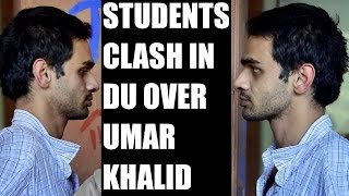 ABVP clashes with AISA outside Ramjas college over Umar Khalid's invite : Watch video