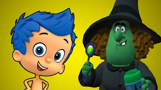 Mermaid to frog. The witch cast a spell on Bubble Guppies BRODIGAMES