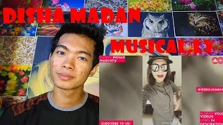 The Best India Disha Madan Musical.ly Reaction