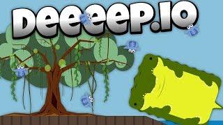 Deeeep.io - Deadly Crocodile in the New Swamp Update! -  - Lets Play Deeeep.io Gameplay - Beta