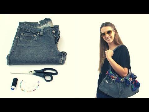 Cómo hacer un bolso con un jean