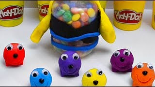 Play Doh Learn Colors Smiley dough Surprise toys Hellow Kitty & My little pony with Ice cream