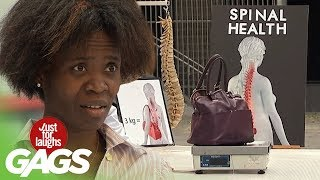 Purse Full of Cash Goes in Trash - Just For Laughs Gags