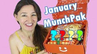 Munchpak Unboxing Taste Test January