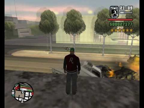 CJ destruye San Fierro Loquendo GTA San Andreas