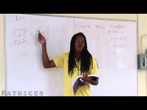 Xxx Mp4 Damion Crawford CXC Mathematics Matrices 1 3gp Sex