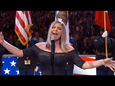 Xxx Mp4 Fergie Performs The U S National Anthem 2018 NBA All Star Game 3gp Sex