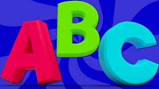ABC song | learn abc | alphabets song | nursery rhyme | childrens song | 3d rhymes